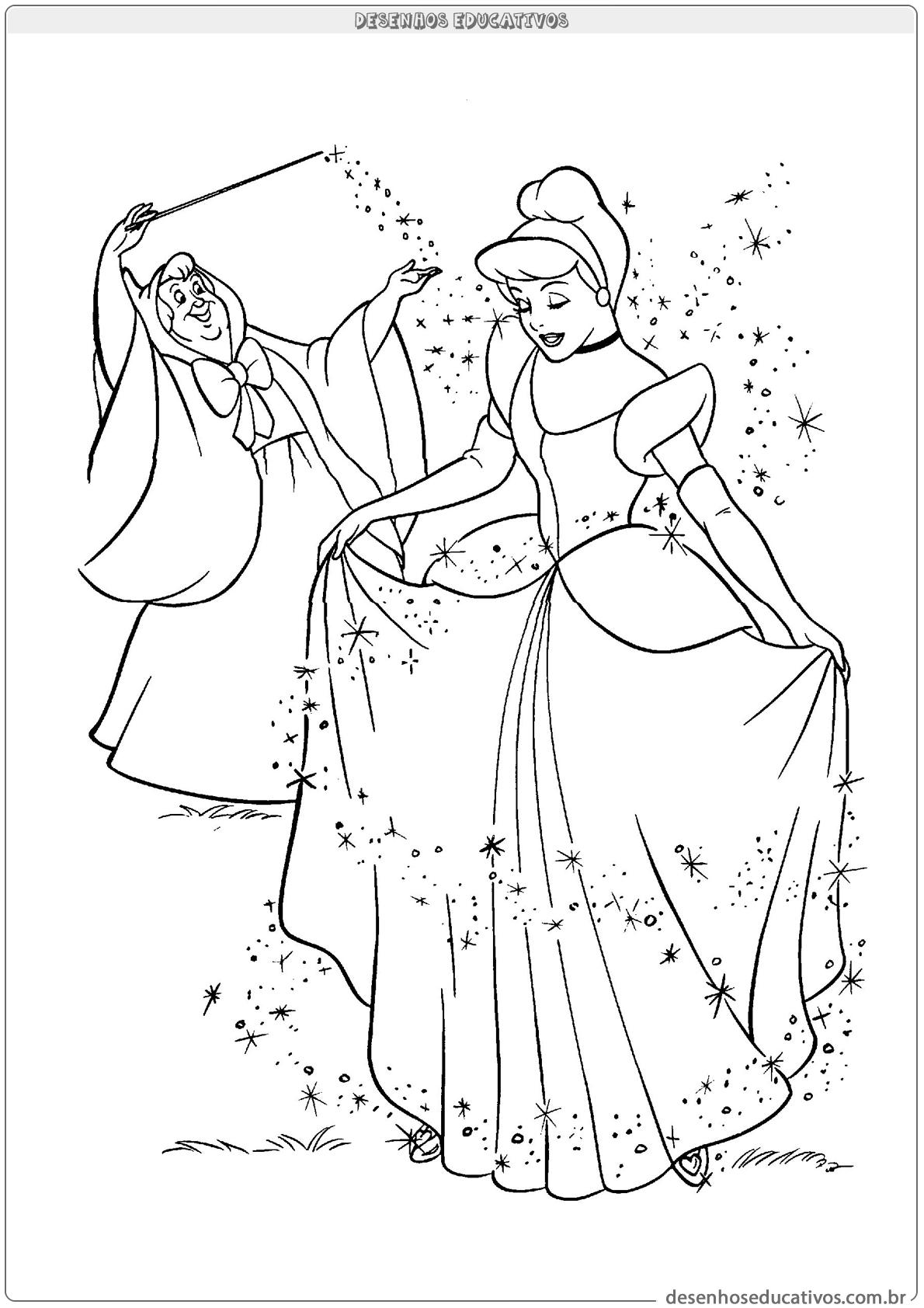 Cinderela e sua fada madrinha