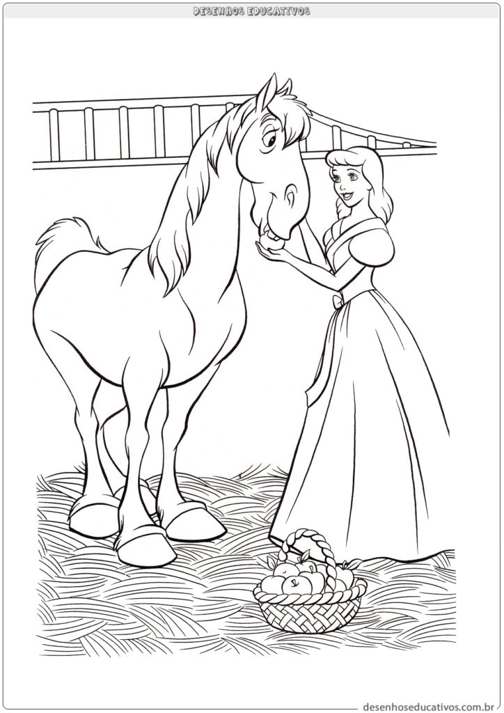 Cinderela e seu cavalo