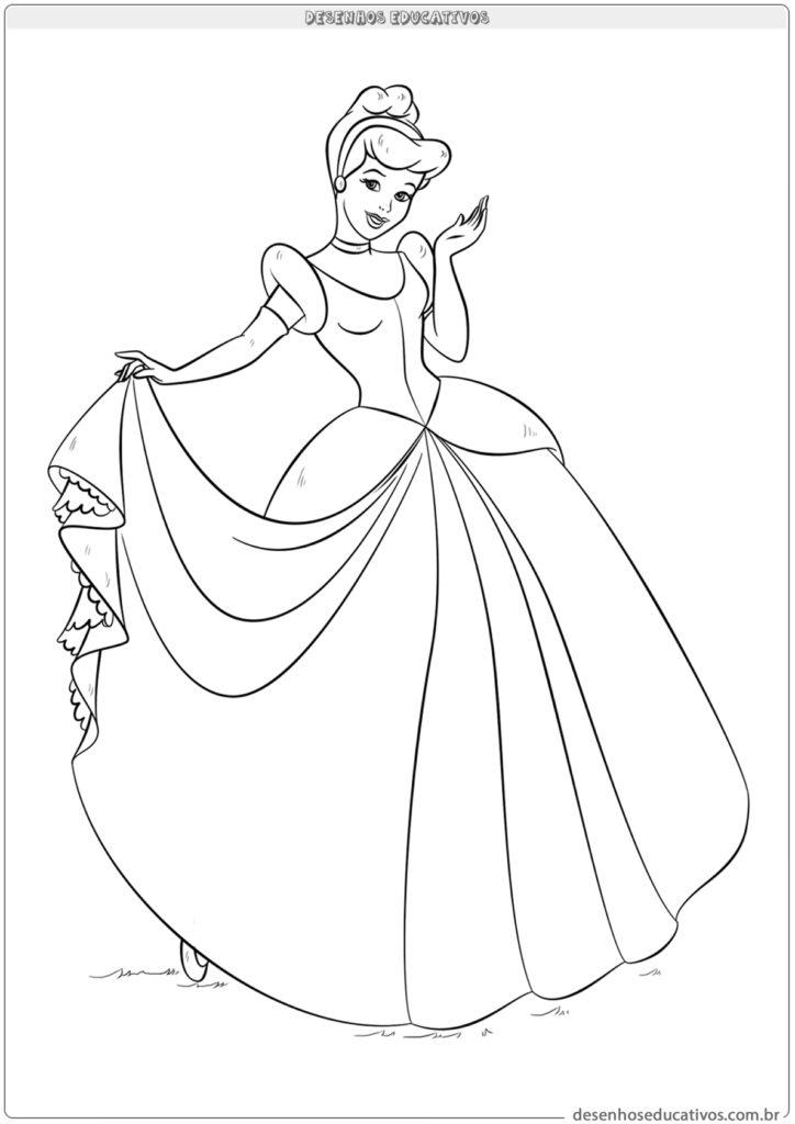 Desenhos Da Cinderela Para Colorir E Imprimir Desenhos Educativos