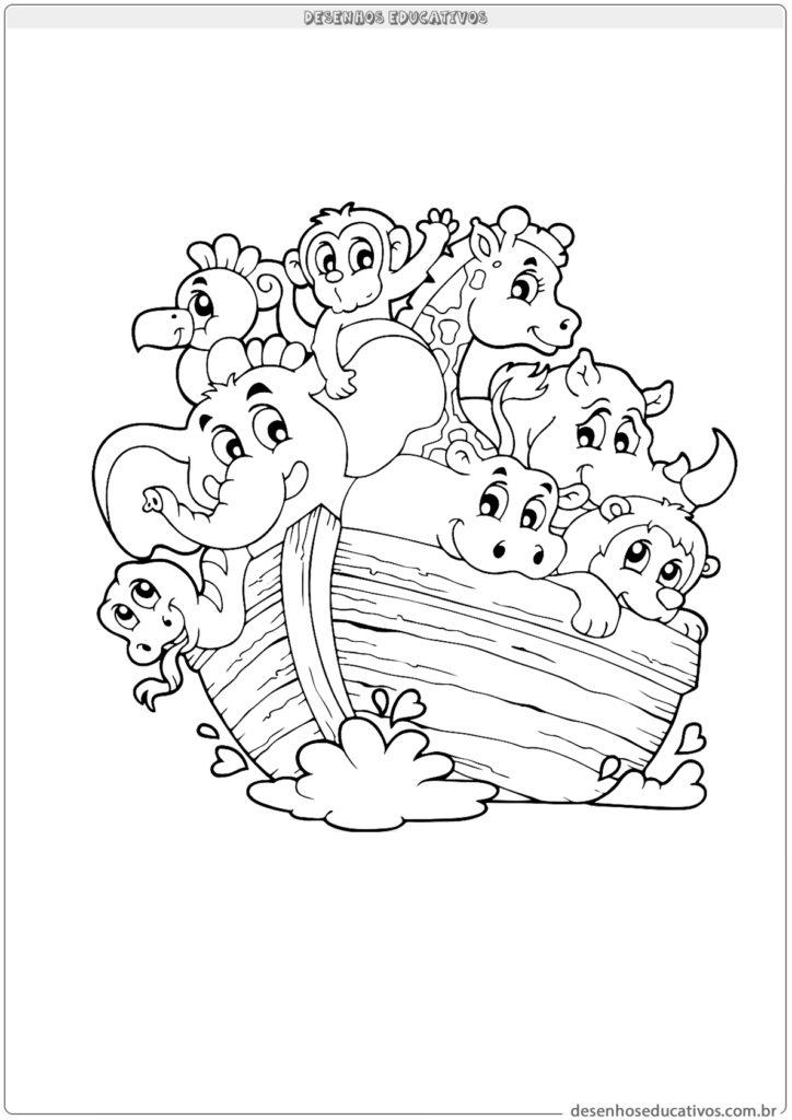A arca de Noé para colorir