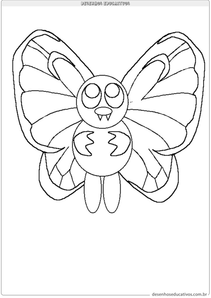 Butterfly para colorir