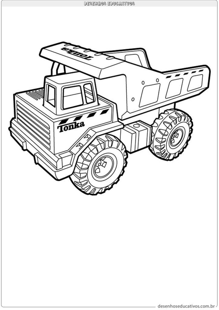 Caminhão de carga pra colorir