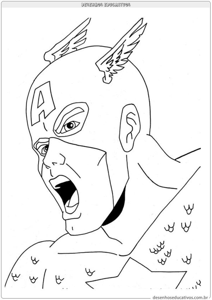 Capitão América para colorir