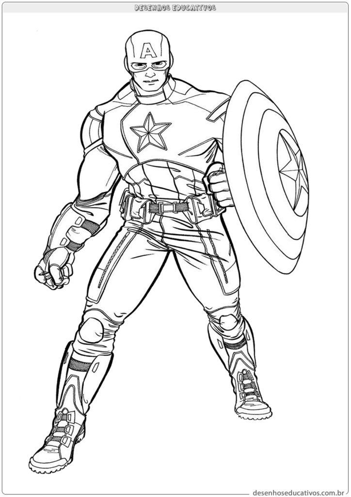 Capitão América vamos colorir