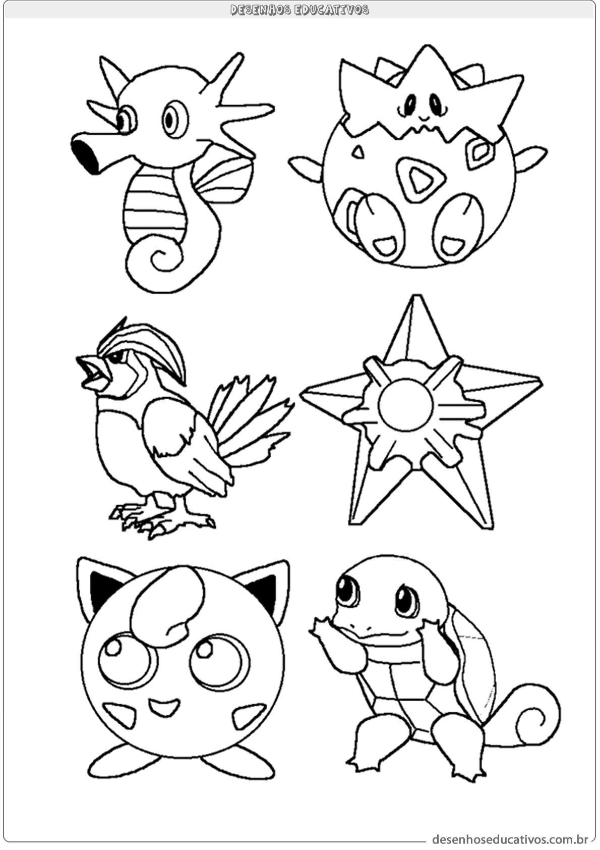 Colorir Pokemons Desenhos Educativos