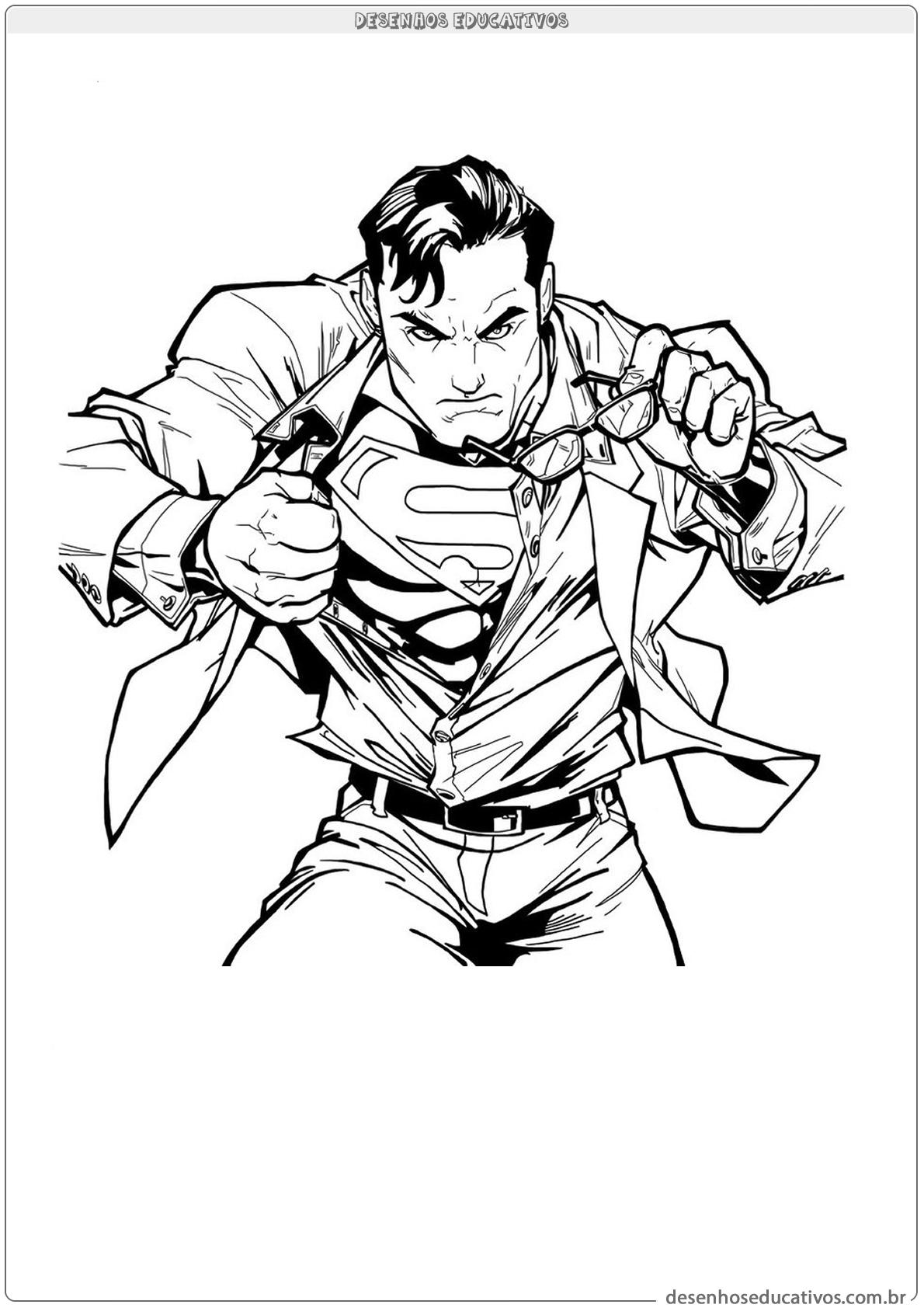 Desenho para colorir do Superman