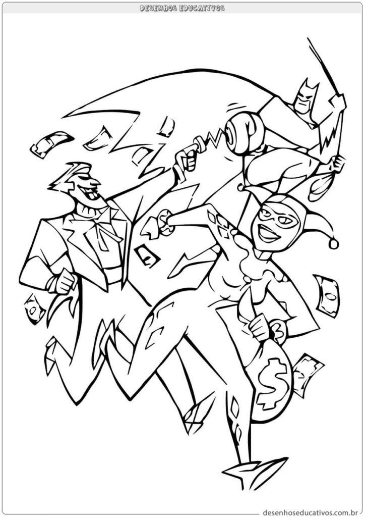 Desenhos do Batman com coringa