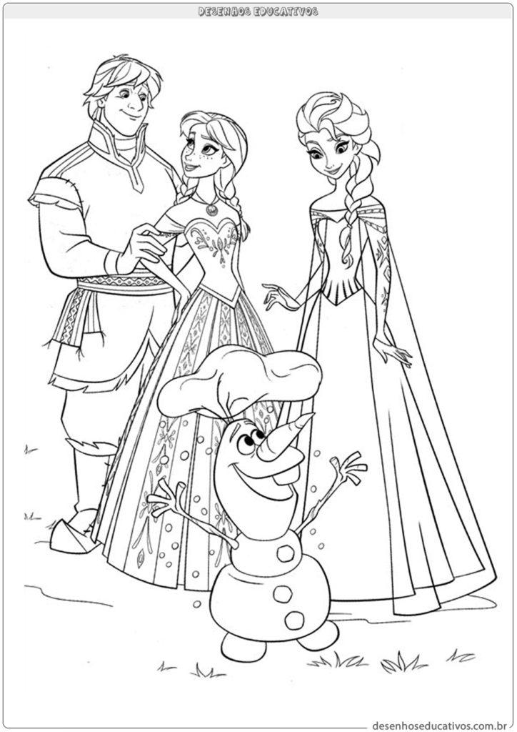 Desenhos educativos da Frozen