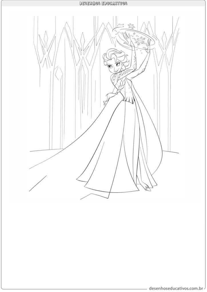 Desenhos educativos Elsa do filme Frozen