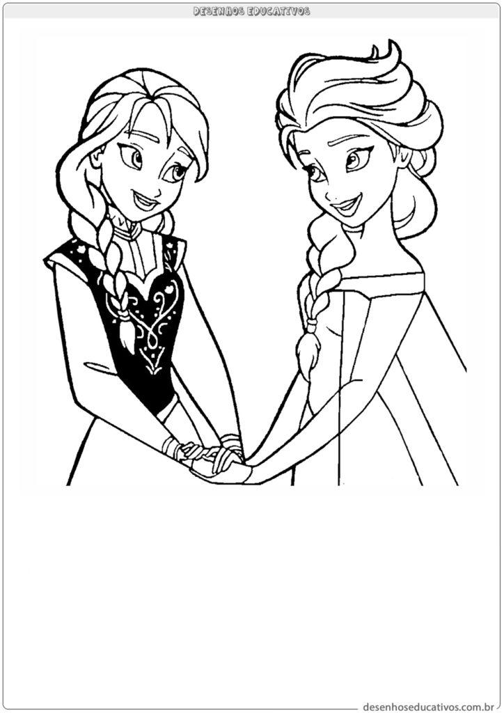 Desenhos educativos Elsa e sua irmã