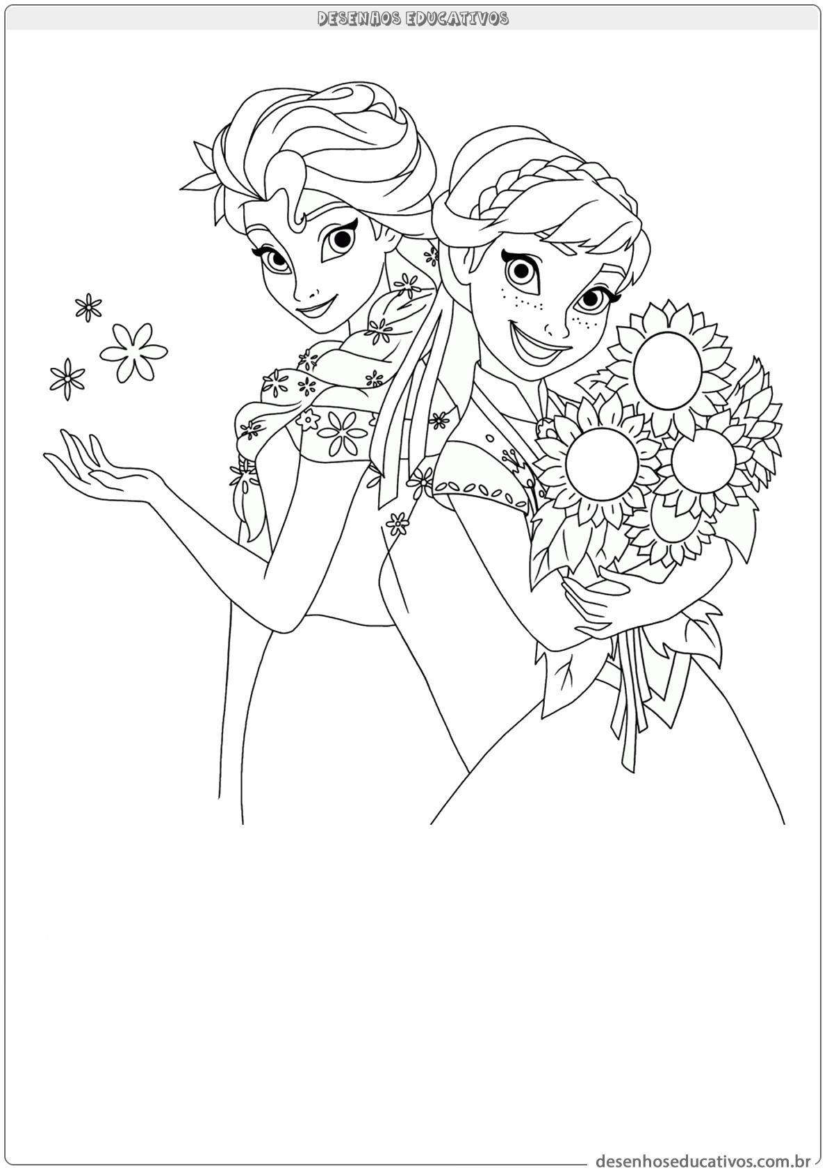 Desenhos Educativos Frozen Elsa E Ana Desenhos Educativos