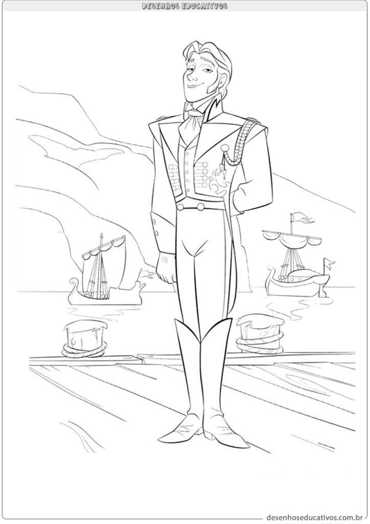 Desenhos educativos Frozen príncipe