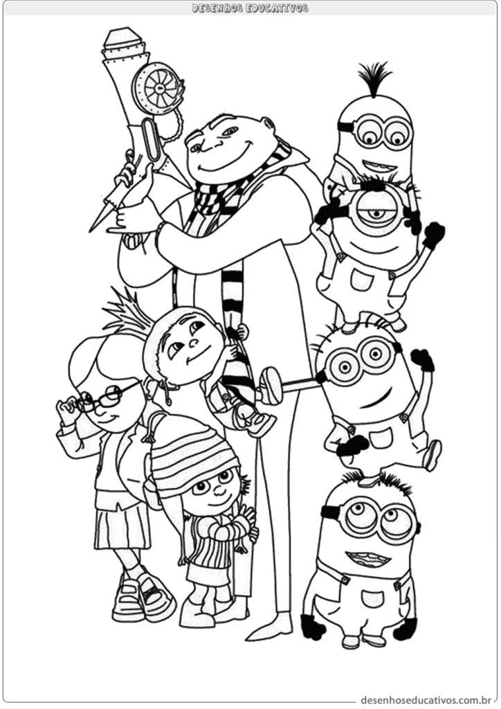 Desenhos educativos Gru e os minions