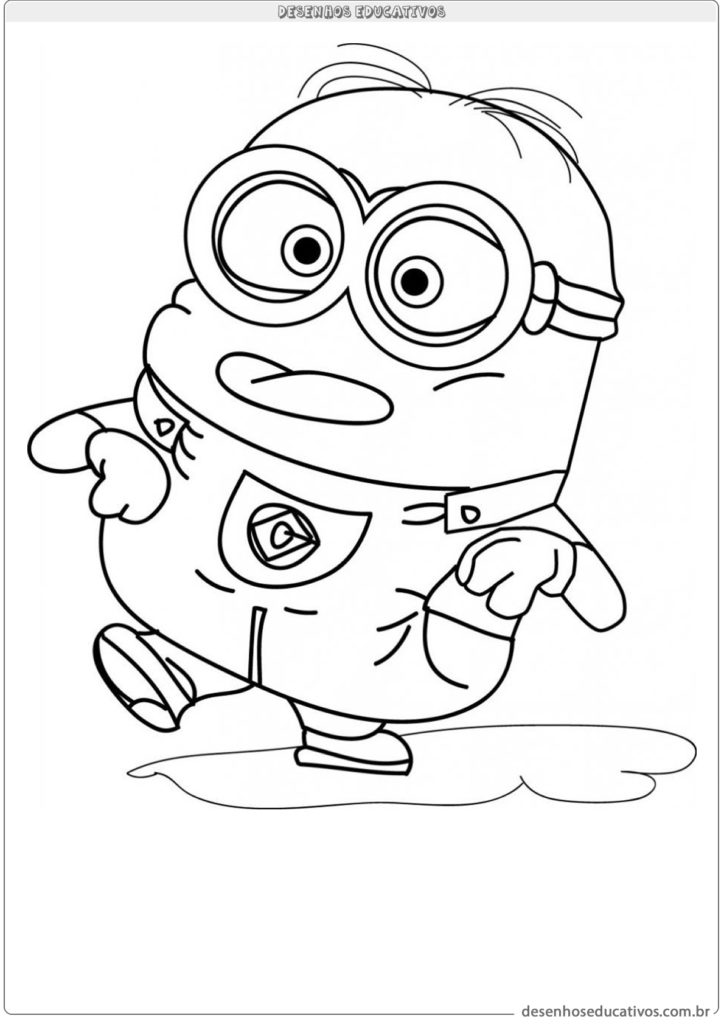 Desenhos educativos minions vamos colorir