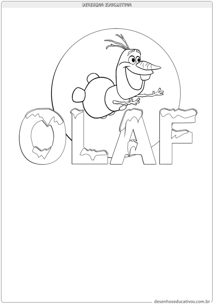 Desenhos educativos Olaf