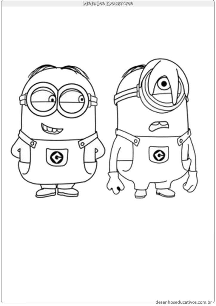 Desenhos educativos os minions