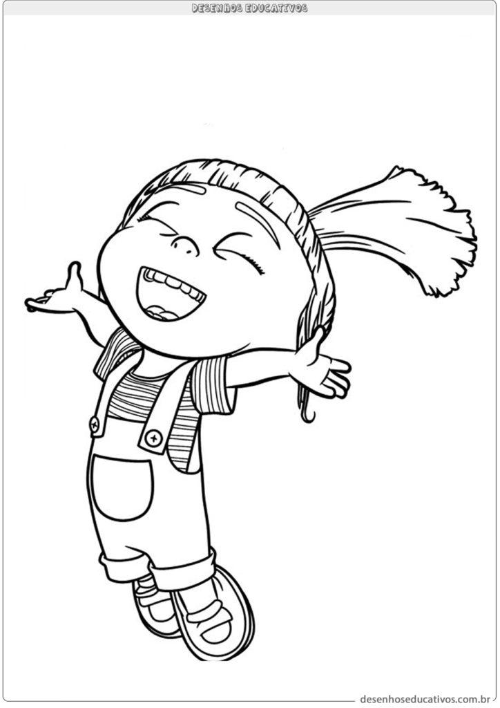 Desenhos educativos para colorir Agnes