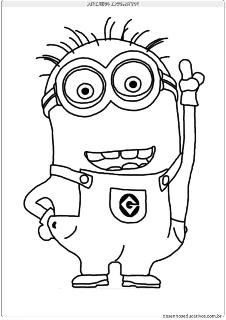 Desenhos educativos para colorir do filme minions