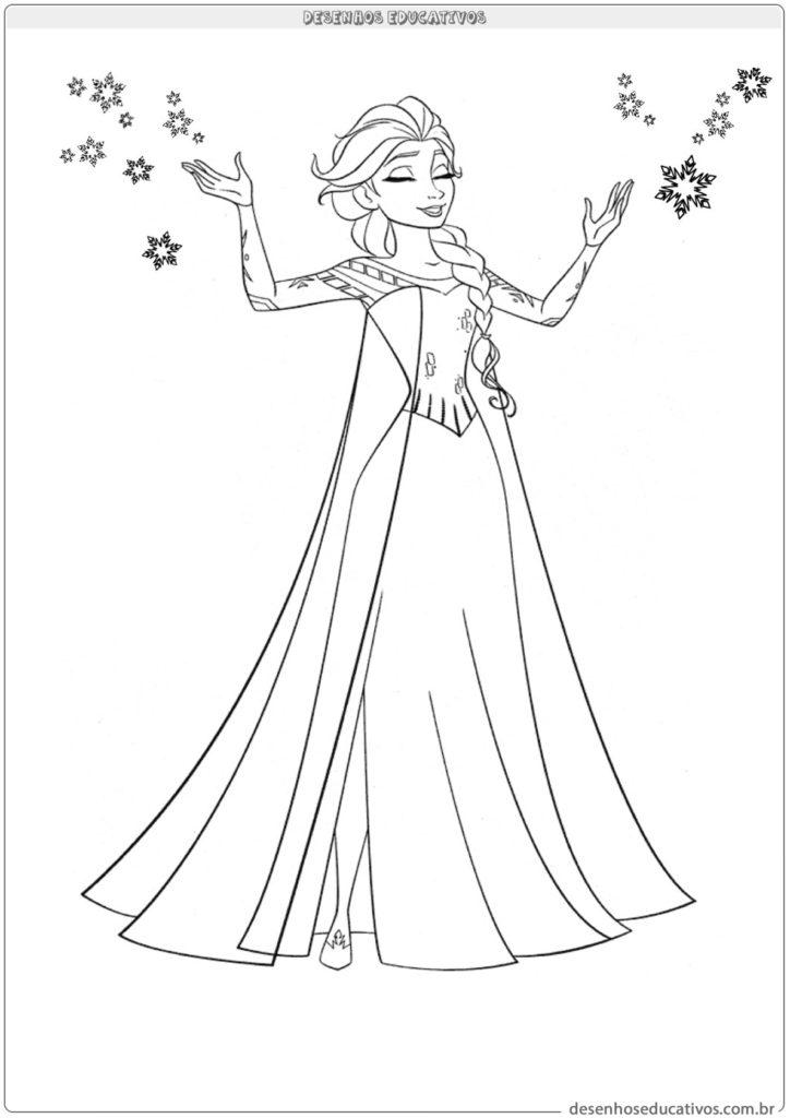 Desenhos educativos para colorir Elsa do Frozen