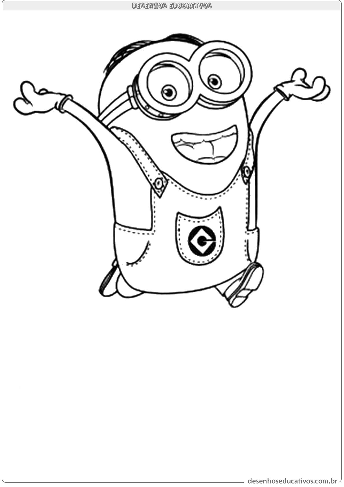 Desenhos Educativos Para Colorir Minions Desenhos Educativos