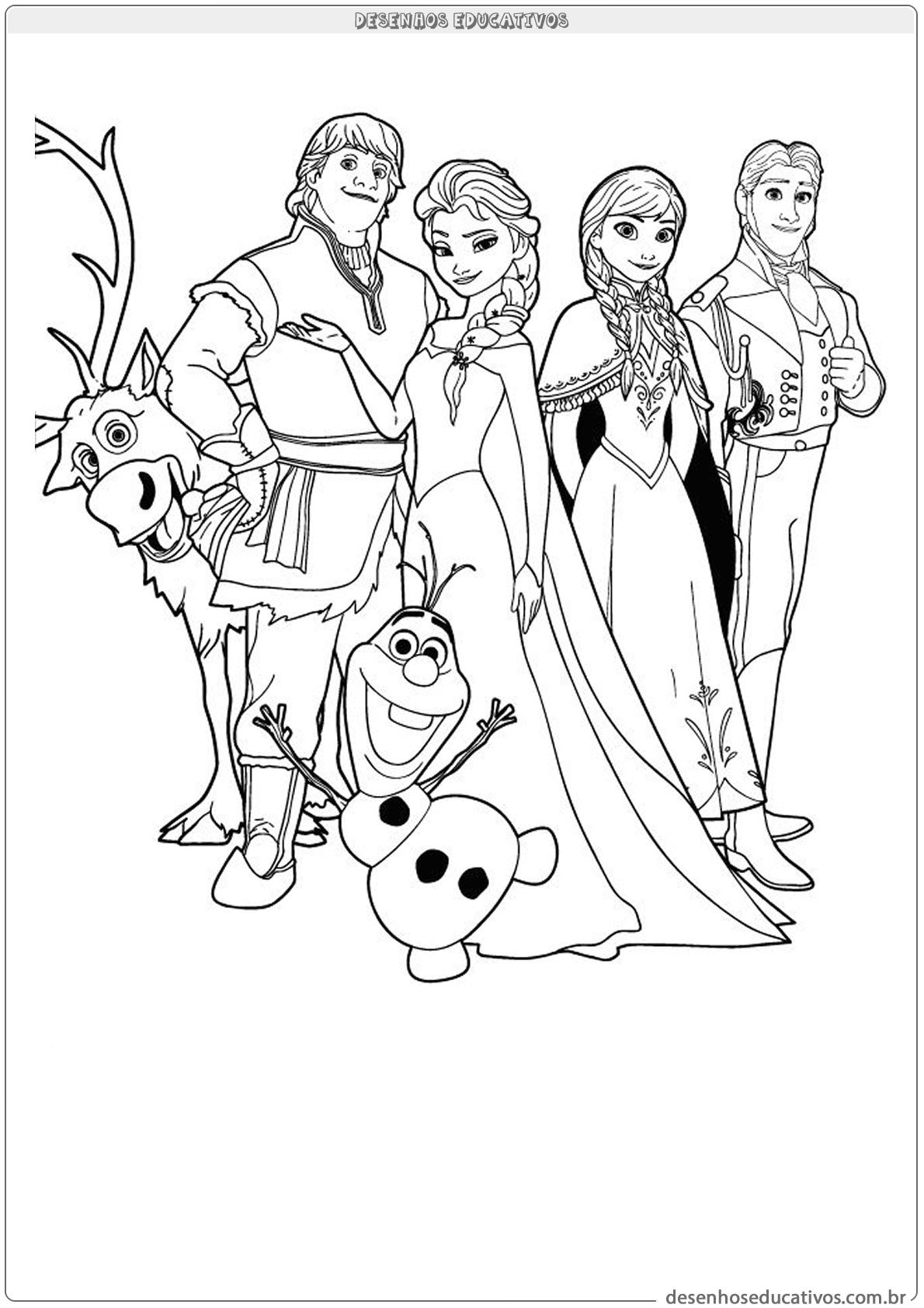 Desenhos educativos personagem do filme Frozen