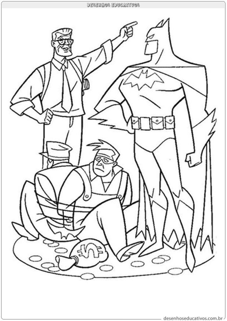 Desenhos para colorir Batman e bandido