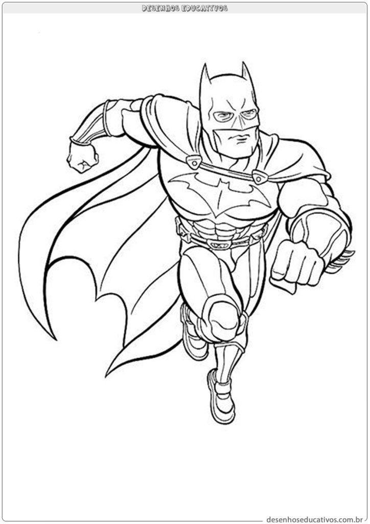 Desenhos para colorir Batman voando