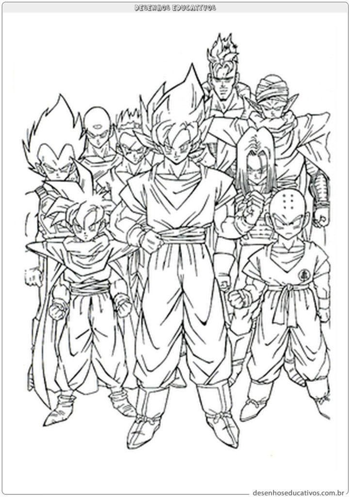 Dragon ball desenhos educativos