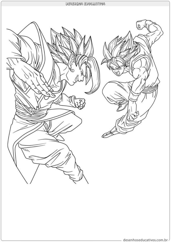 Dragon ball desenhos para pintar