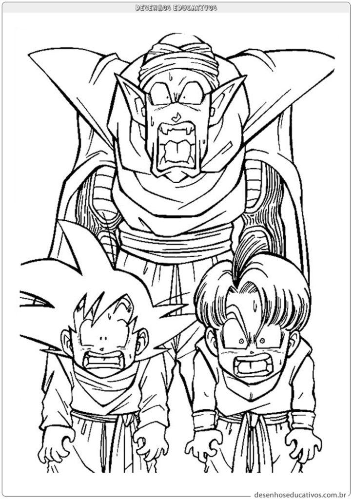 Dragon ball z desenhos educativos