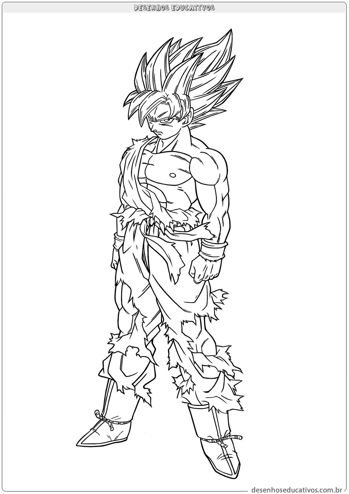 Dragon ball z desenhos educativos Goku