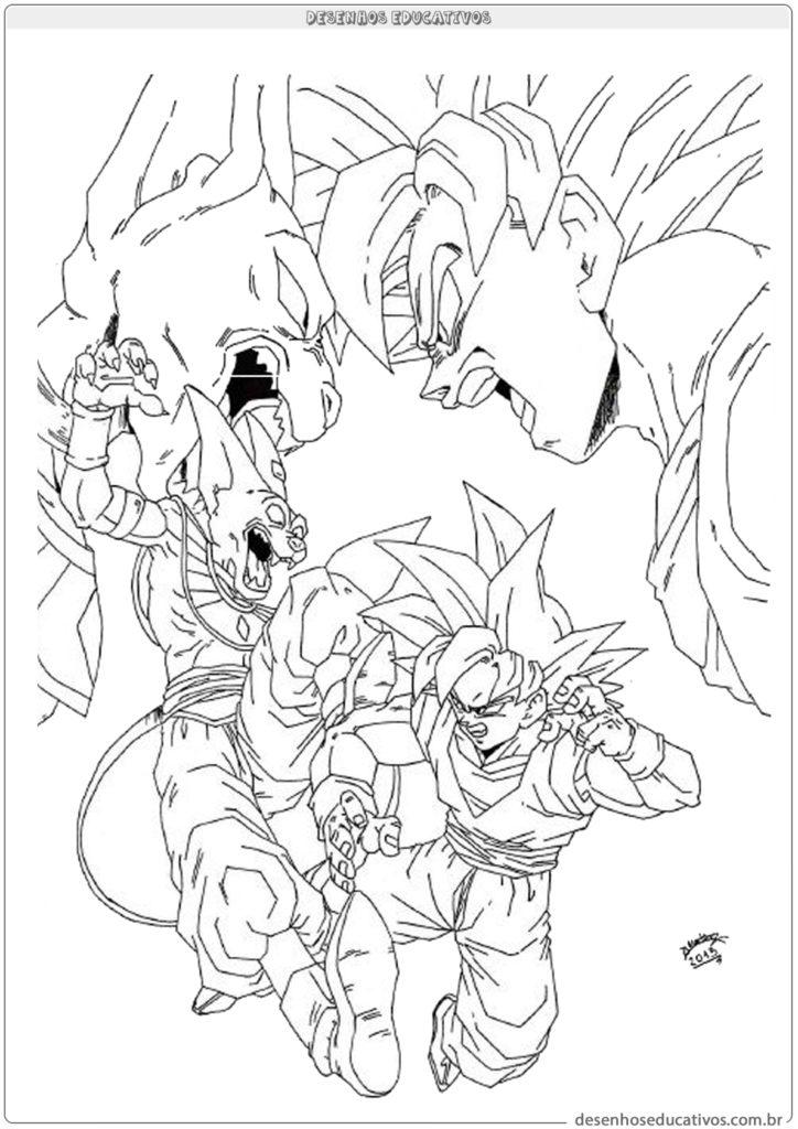 Dragon ball z desenhos educativos vamos colorir