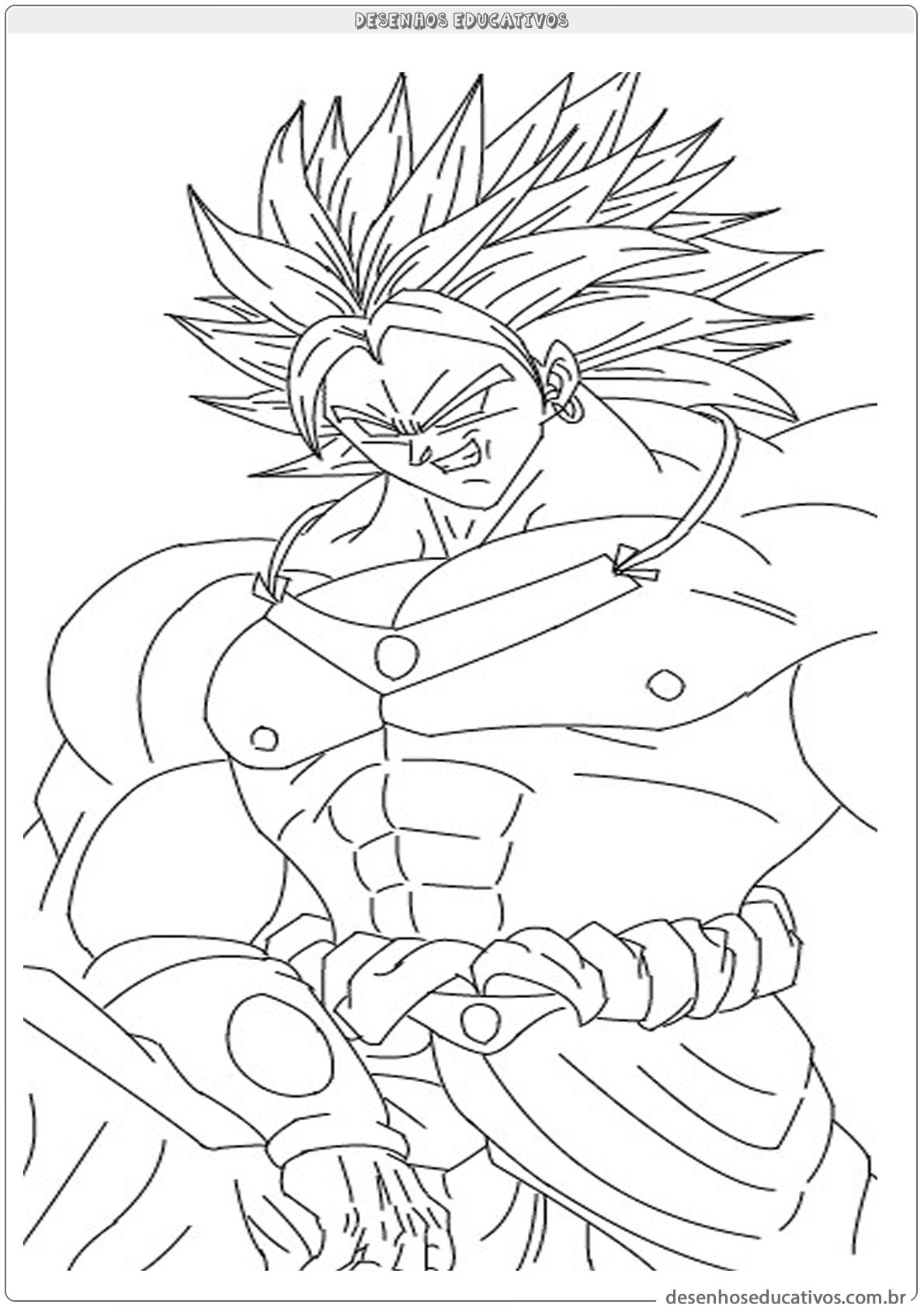 Dragon ball z desenhos para colorir