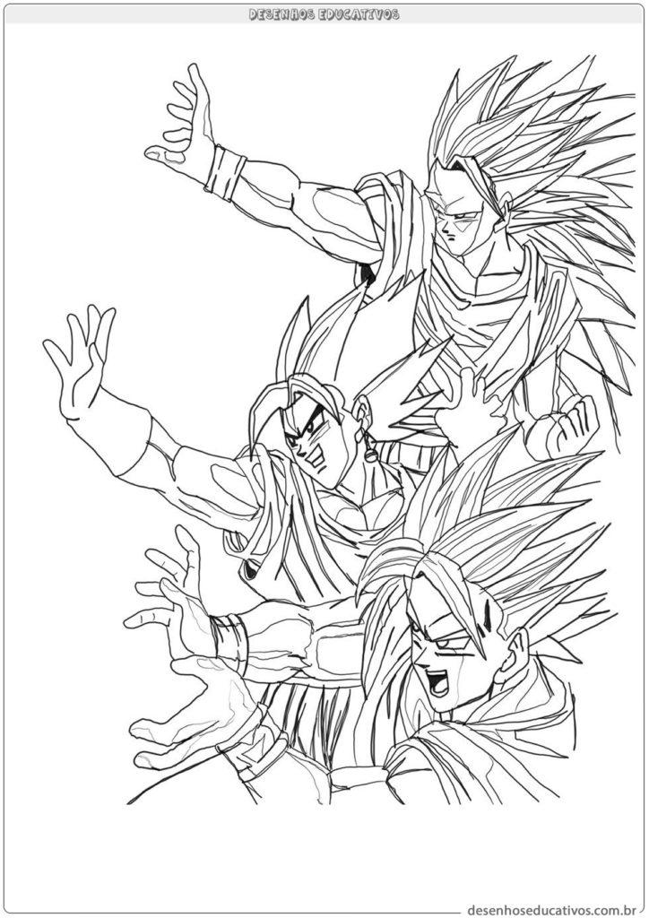 Dragon ball z desenhos para pintar