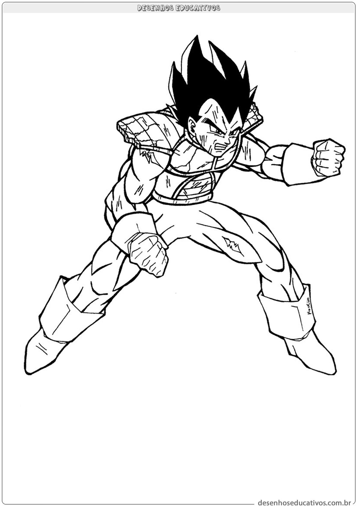 Dragon Ball Z Pinte O Desenho Desenhos Educativos