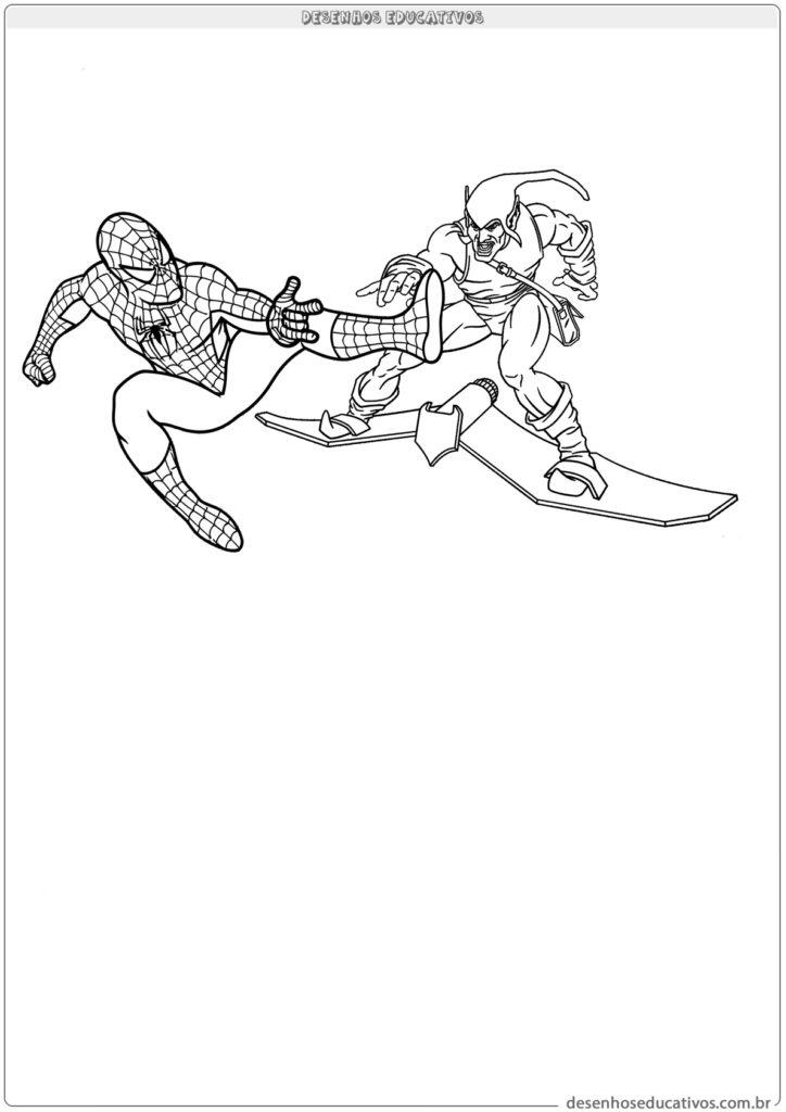 Homem aranha lutando