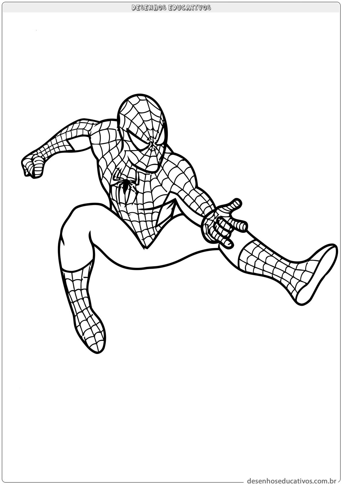 Homem Aranha Para Colorir Desenhos Educativos