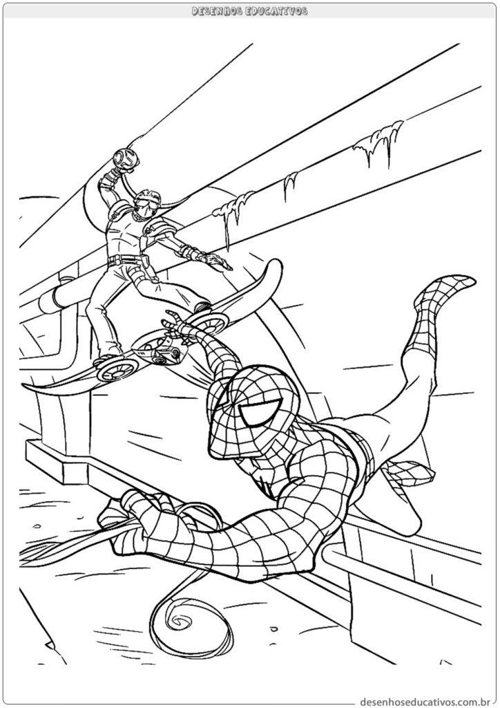 Homem aranha para pintar