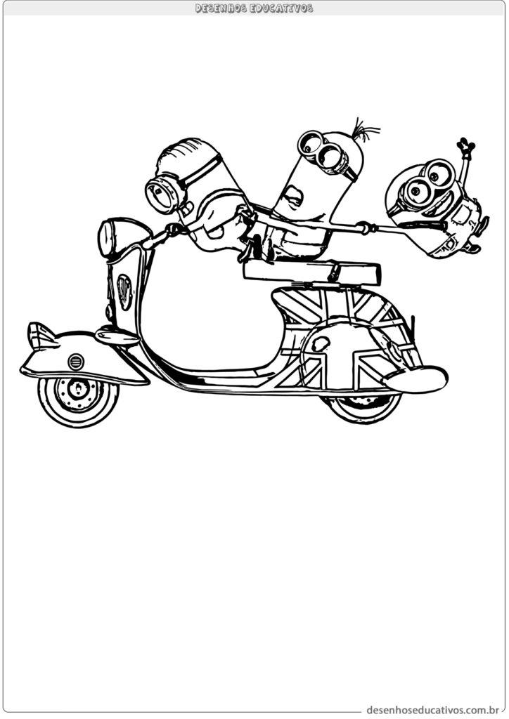 Minions andando de moto