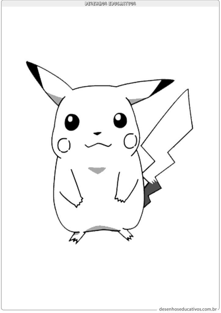 Pikachu para colorir