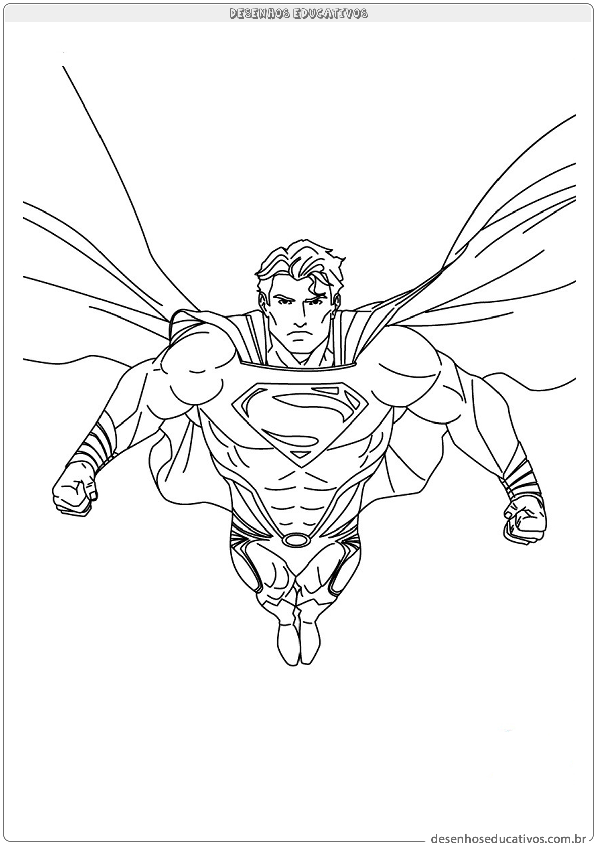 Superman para colorir