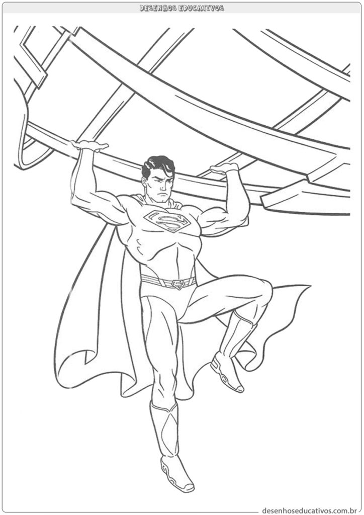 Superman para imprimir e colorir