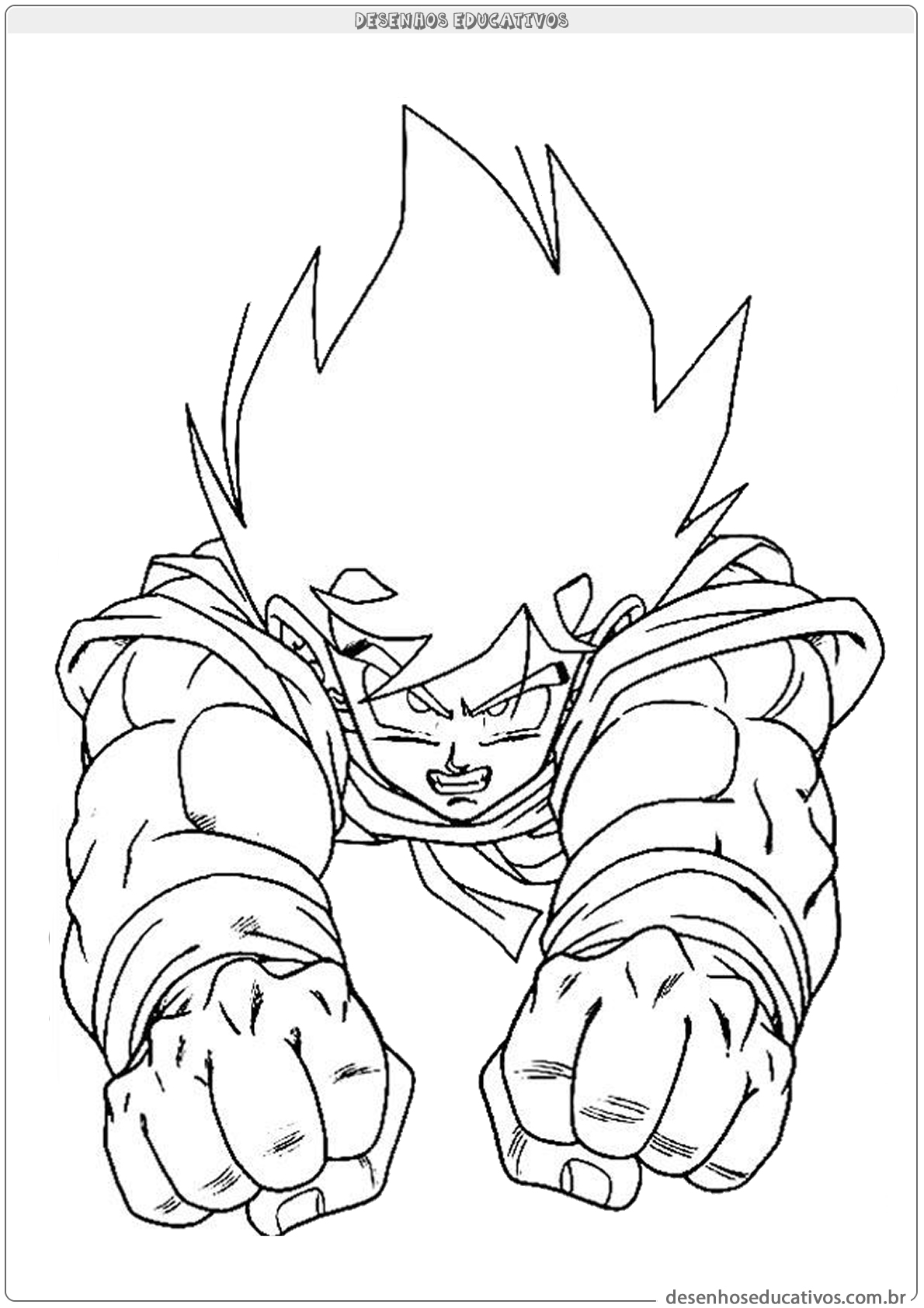 Vamos colorir dragon ball desenhos