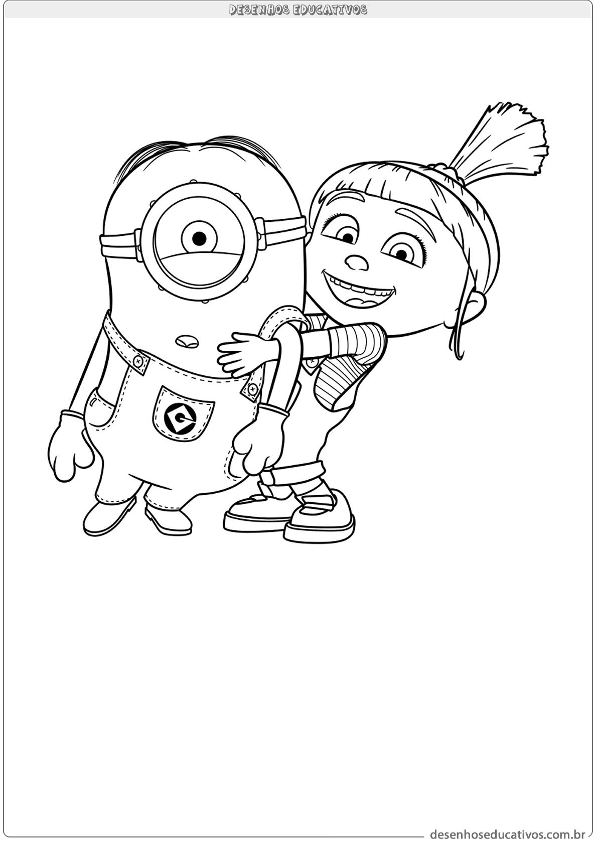 Vamos Pintar Os Minions Desenhos Educativos