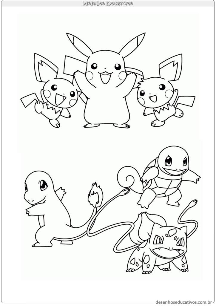 Vários Pokemon para colorir