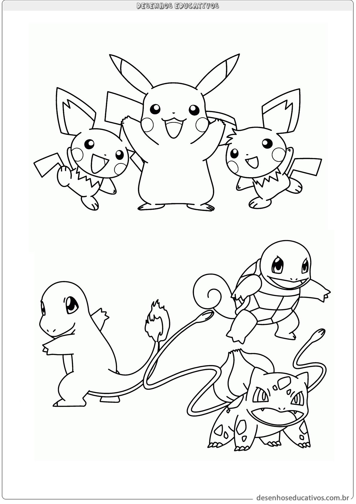 Varios Pokemon Para Colorir Desenhos Educativos