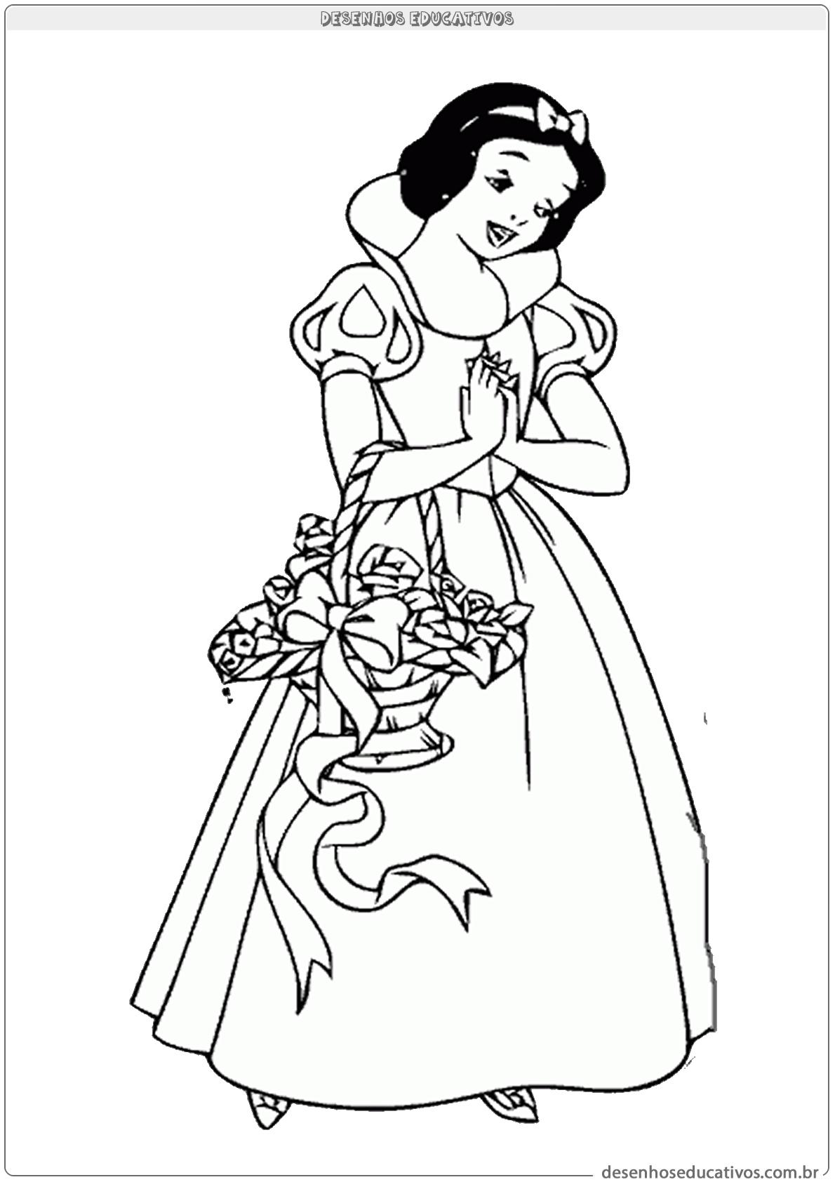 Para Colorir Branca De Neve Desenhos Educativos