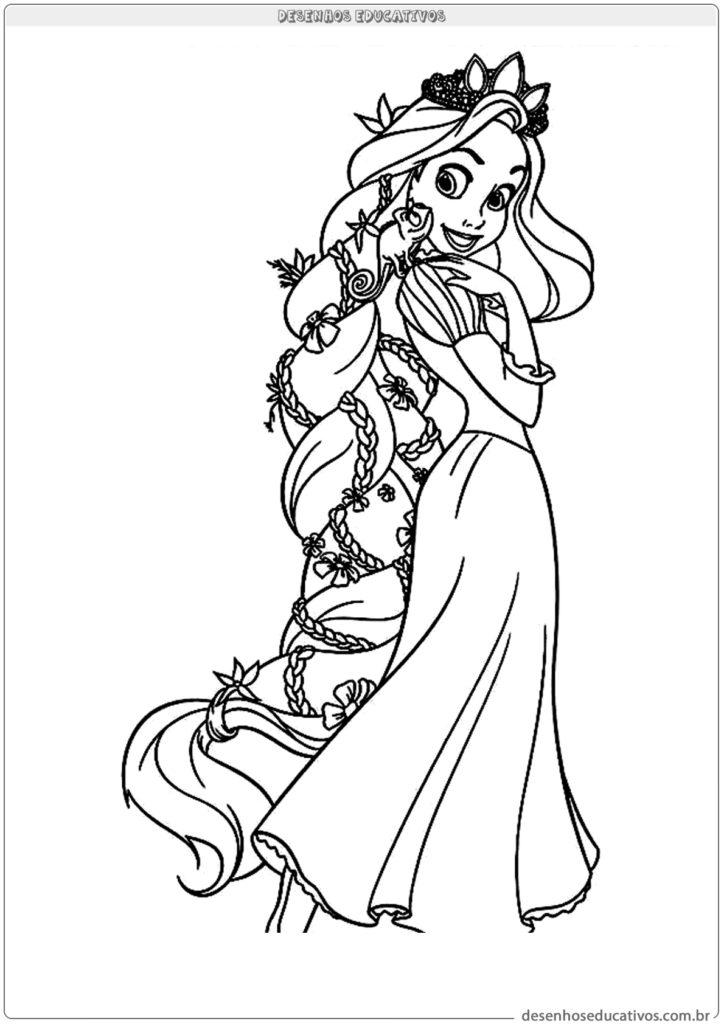 Para colorir desenhos da Rapunzel