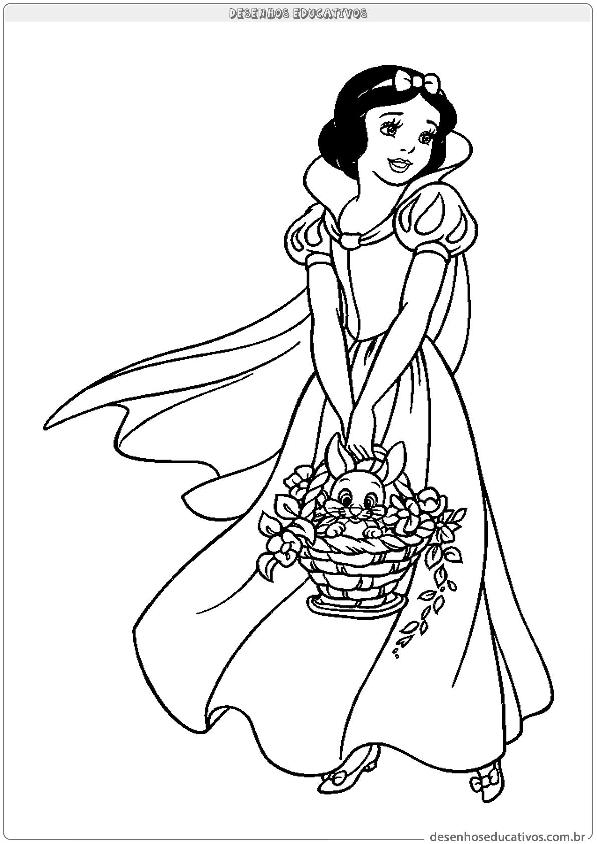 Vamos Colorir A Branca De Neve Desenhos Educativos
