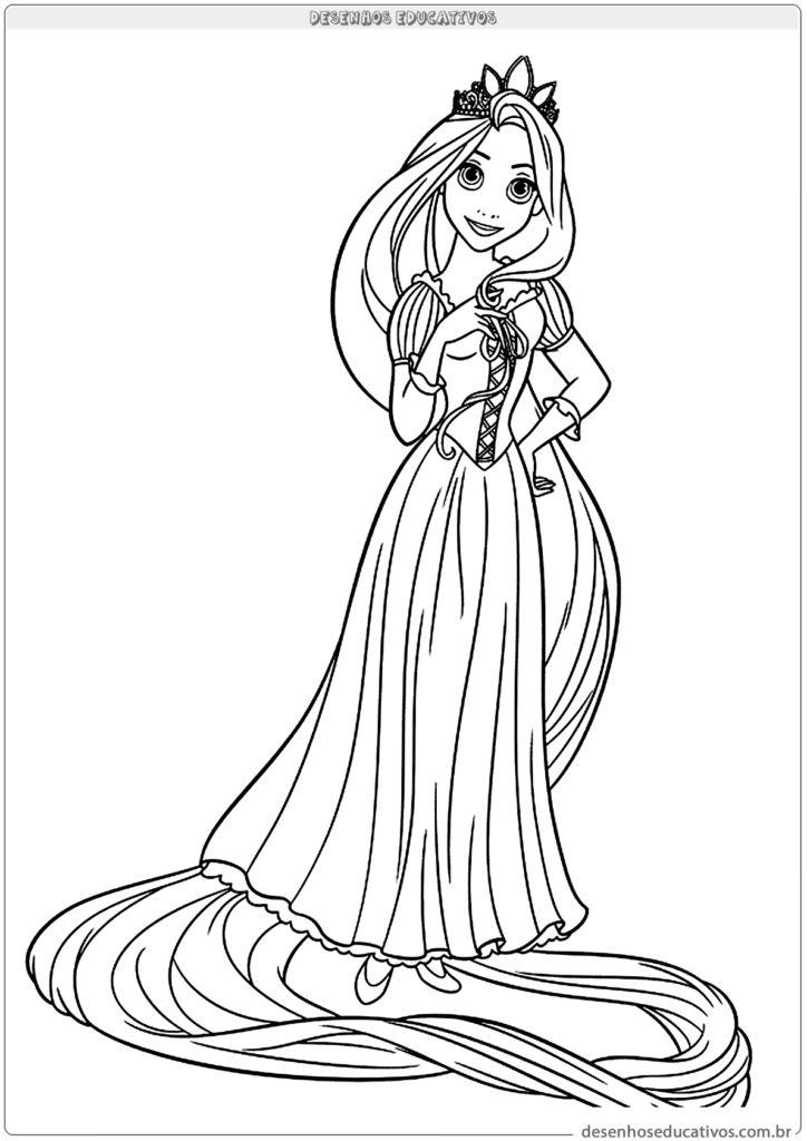 Vamos colorir a Rapunzel